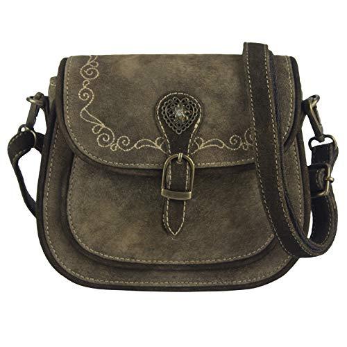 Domelo klein Trachtentasche Leder Umhängetasche Damen Oktoberfest Tasche Dirndltasche Handtasche Crossbody Bag Schultertasche Ledertasche Wiesn Accessories Frauen Taschen Geschenke 91361