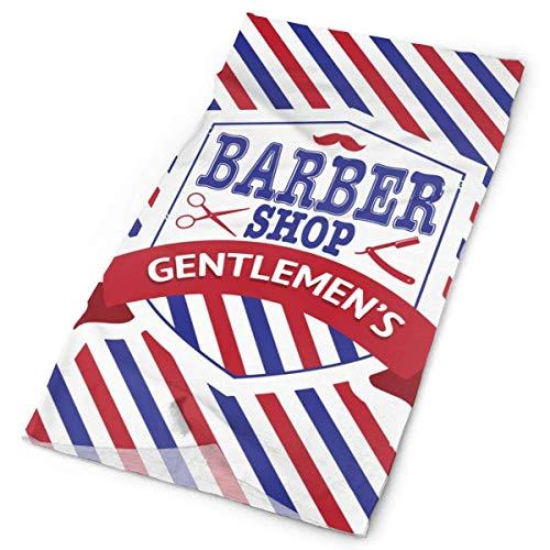Hals-Leggings mit Vintage-Emblem des Barbier-Shops, warm, winddicht, atmungsaktiv, Angeln, Wandern, Laufen, Radfahren, Skifahren, Snowboarden