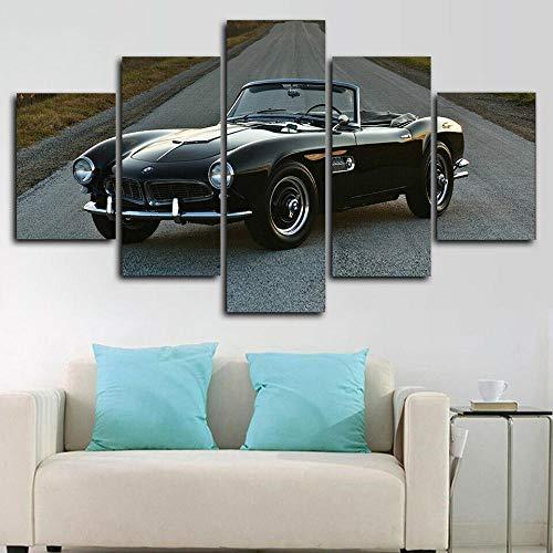 HFDSA 5 Piezas Cuadros Modernos Impresión De Imagen Artística Digitalizada Lienzo Decorativo para Tu Salón O Dormitorio Coche Deportivo Clásico BM 507 Roadster Regalo 150 X 80 Cm.