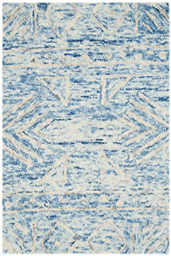 Safavieh Chatham Collection CHT764B Handmade Blue and Ivory Premium Wool Area Rug (2' x 3')
