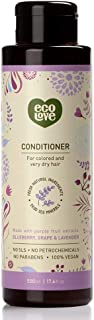 ecoLove - Organic Conditioner for Colored Treated Hair & Very Dry Hair with Blueberry Grape & Lavender Vegan Conditioner for Women & Men,17.6 oz.
