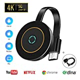 Wireless WiFi Display Dongle HDMI,5GHz+2.4GHz WiFi Wireless Mini Screen Share Display Receiver 1080HD,Wireless Display Adapter for Android Smartphone/PC/TV/Monitor/Projector