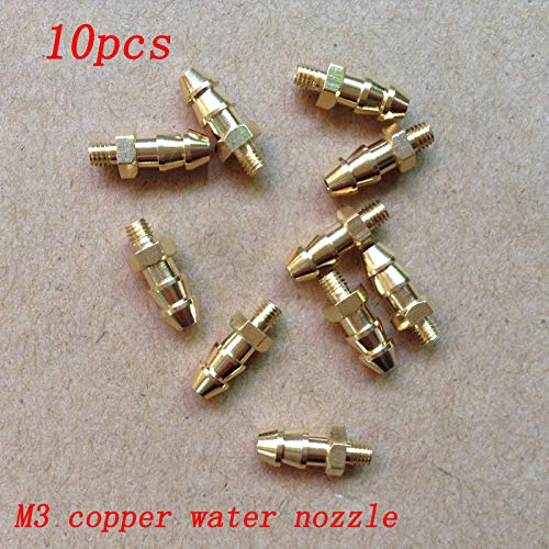Parts & Accessories 10pcs Water-Cooling System M3 Copper Nozzle for RC Jet Boats Cooled Fuel Outlet Prevent Leakage L= 13mm