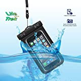 Premium IPX 100 certified Floating Waterproof Smart Phone case for iPhone 6, 6S,6 Plus,6S Plus, Galaxy S5, S6,S7, Note 4,5, LG G3,G4 (Black)