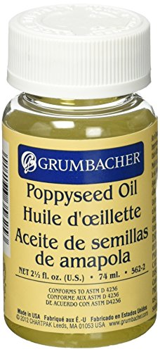 Grumbacher Poppyseed Oil Medium, 2-1/2 Oz. Jar, # 5622