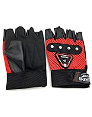 Jsheng Fitness Half Finger Gloves, Red - A20-3