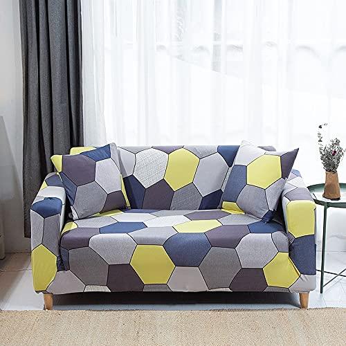 Funda de sofá Impresa Funda elástica para Muebles Funda de sofá elástica para Sala de Estar Funda de sofá Modular Funda de sofá 1/2/3/4 Asiento A25 2 plazas