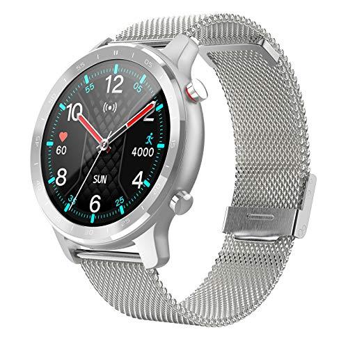 QLK S30 Smart Watch Hombres Y Mujeres IP67 Impermeable Fitness Bluetooth Smartwatch Frecuencia Cardíaca Monitor de Presión Arterial para Ios Android, D