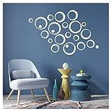 LxwSin Pegatinas de pared 3d espejo, Adhesivos decorativos espejos, Pegatinas de...