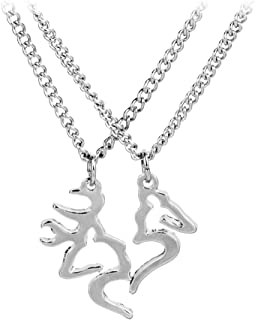 buck and doe lovers necklace