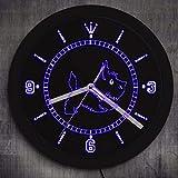 Cyalla Scottie Dog Neon Wandschild Kunst Wanduhr Mit Led Beleuchtung Hunderassen Geschenk Scottish Terrier Leuchtende Wanduhr Dekoration 10 Zoll