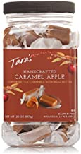 Tara's All Natural Handcrafted Gourmet Caramel Apple Flavored Caramels: Small Batch, Kettle Cooked, Creamy & Individually Wrapped - 20 Ounce, brown