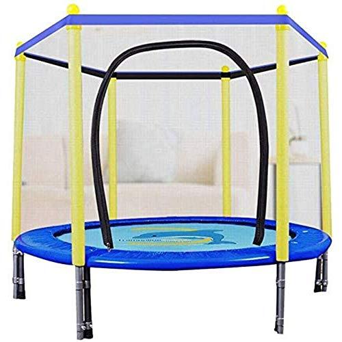 UIZSDIUZ Niños al Aire Libre y Interior Bounce Fitness Fitness Fitness Trampolín 54 Pulgadas (Rosa Azul)