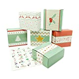 Juego para crear tu propio calendario de Adviento para Navidad de Pajoma, con 24 cajas para rellenar y pegatinas con números incluidas