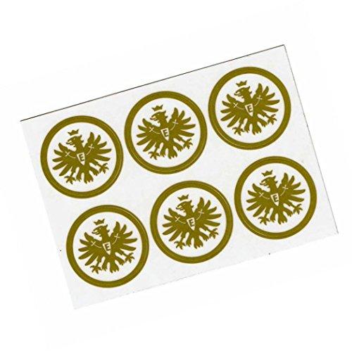 Eintracht Frankfurt Aufkleber/Autoaufkleber/Sticker 6er Set Gold - Plus gratis Aufkleber Forever Frankfurt