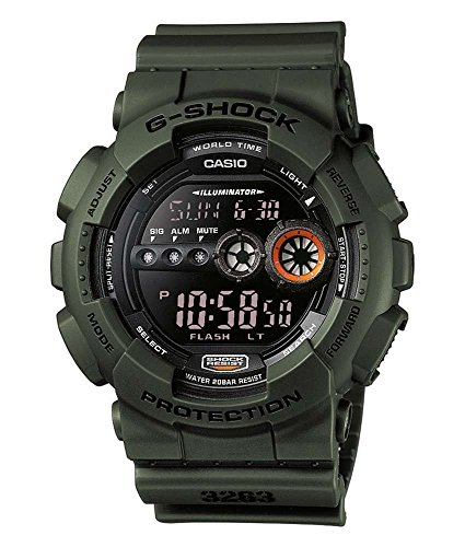 Casio G-Shock Herren Resin Uhrenarmband GD-100MS-3ER