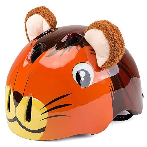 EDW Kinder Fahrradhelm Pferd Nette Form Einteiliger Schutzhelm Stoßfest Einstellbarer Kopfumfang Aerodynamischer Helm CE-Zertifizierung