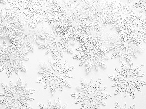 SiDeSo® Konfetti Streudeko Weihnachten Hochzeit (20 Stück weiß Schneeflocke 2)