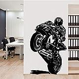 Casco motociclista racer motocicleta pegatinas de pared para habitación de niños decoración de dormitorio pegatinas de pared a prueba de agua A5 58x91 cm
