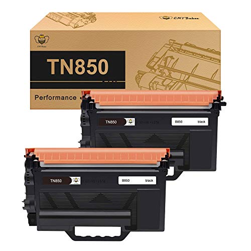 CMYBabee Compatible Toner Cartridge Replacement for Brother TN850 TN-850 TN 850 (Black, 2-Pack)