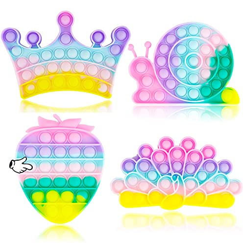 4 Pack Pop Fidget Figetget Sensory Its Toy Popping Popper Poppet Anxiety Autism Stress Pressure...