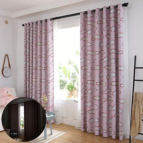 XdiseD9Xsmao 1 stuk elegant wolkenpatroon bedrukt deur raam gordijn stang duurzaam wasbaar Drapping meubel voor woonkamer en slaapkamer Meerkleurig.