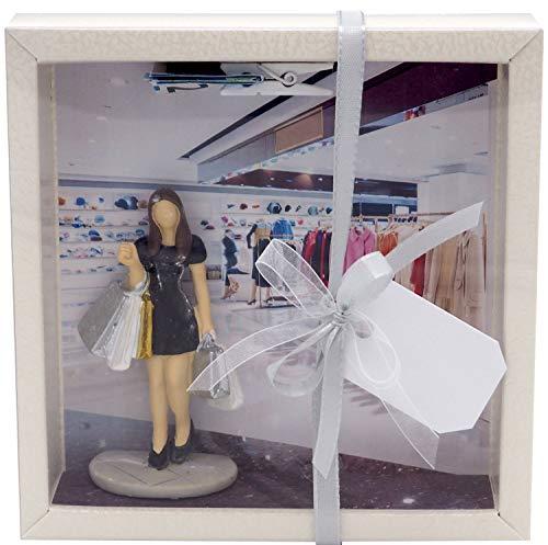 ZauberDeko Geldgeschenk Verpackung Shopping Gutschein Einkaufen Einkaufsgutschein Frau Geburtstag Weihnachten