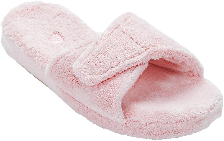 Acorn Women's Premium Terry Spa Slide Slipper, Xlarge, Pink