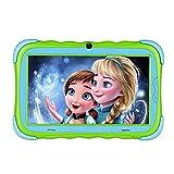 Kindertablet, 7' Kinder Tablet Pad Lerntablet für Kids, 1GB + 16 GB, Android 7.1 OS, IPS-Touchscreen, WiFi, Bluetooth & Google Play, Dual-Kamera mit kindgerechte Silikon Hülle Tablet