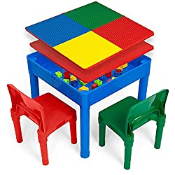 Best toddler Building Brick Table and chairs under $100