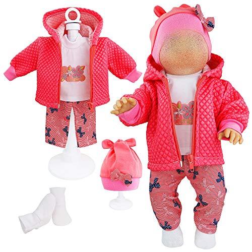 Kindabox Puppenkleidung 5-TLG Set für Puppe bis 43 cm (ohne Puppe)