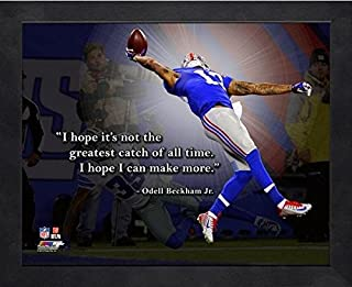 Odell Beckham New York Giants ProQuotes Photo (Size: 9 x 11) Framed
