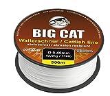 Cormoran Big Cat Wallerschnur (300m / weiß / 8 Fach rundgeflochten), Durchmesser:0.50mm