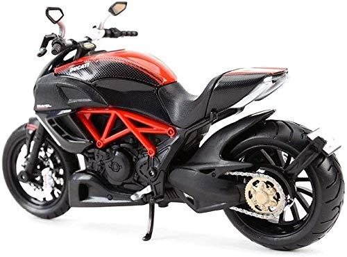 FZDLLFang Regalos para niños Juguete, Modelo de la Motocicleta Ducati uno y Doce Diablo Locomotora simulación de aleación colección de Juguete de Regalo.Tamaño: 18x6x9cm