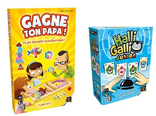 UDC Lot de 2 Jeux de société GIGAMIC - Gagne Ton Papa - Halli Galli Junior