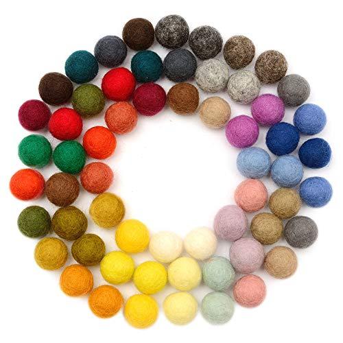 2cm YELLOW Felt Balls x20.Wool.Party Decor.Pom poms.Felt Ball.Wholesale.
