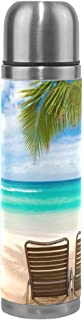Thermos 17.5oz Fantastic Hawaiian Beach With Two Lounge Chairs Vacuum Insulated Stainless Steel Water Bottle