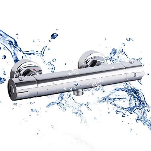 SHYOD Thermostat-Dusche Bar Mixer Wandmontage Dusche Ventil Messingkörper verchromt zhangxu