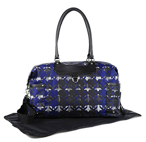 Rebecca Minkoff Kendra Baby Bag, Royal Blue Print