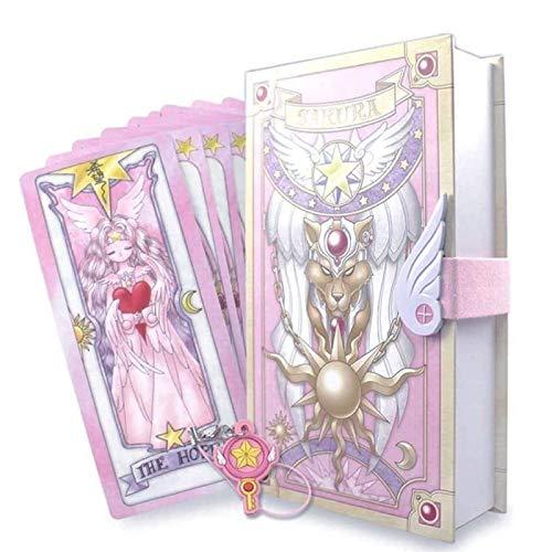 ZFF-DM Cardcaptor Sakura Clow Tarjetas Kinomoto Sakura, Clow, según la Lista Cardcaptor Sakura Clow Card Carte Sakura Card Divination-Anime Fans, la Primera opción para Regalos 2020 Pink