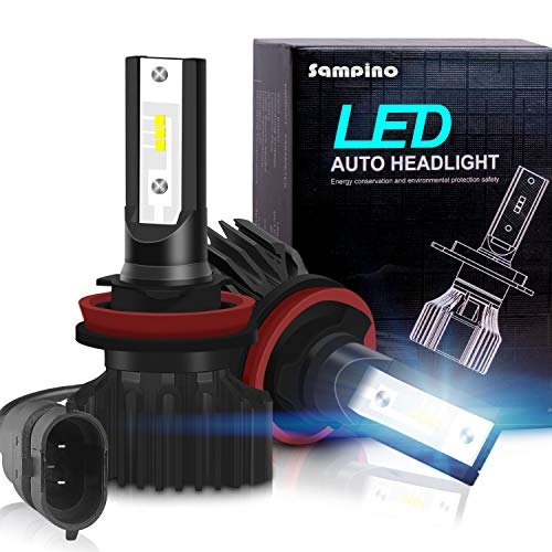 H11/H8/H9 LED Headlight Bulbs – Sampino Headlights All-in-One Conversion Kit 2Packs (DOT Approved)