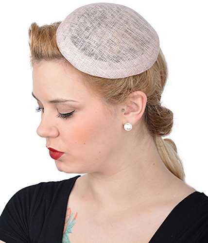 Unbekannt Cute Retro MIA 50s Basic Pillbox Hut/HEADPIECE - Rosa Rockabilly