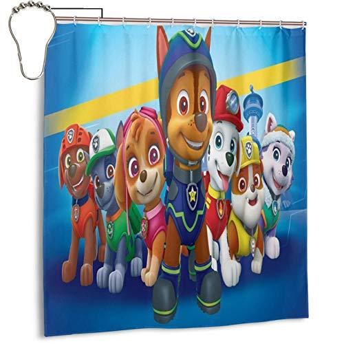 "VEIWO Paw Patrol Shower Curtain Hotel Quality Washable Waterproof Bathroom Decor 66"" x 72"" 14"