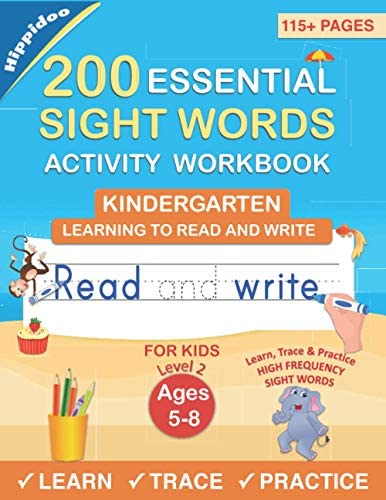 200 Essential Sight Words for Kids Learning to Write and Read Activity Workbook to Learn Trace product image