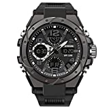 Men's Sports Watch, Military Digital Double Display Waterproof, Fashion Tactical Watches for Men