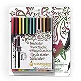 Chameleon, Fineliner Pens, Coloring/Drawing Markers - Designer Colors, Set of 12