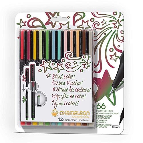 Chameleon Fineliners Designer-Farben - Set von 12