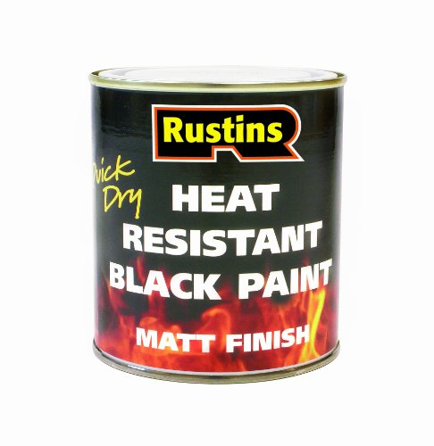 PAINT, HEAT RESISTANT, BLACK, 250ML HRMB250 By RUSTIN'S