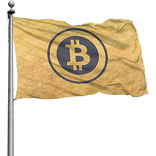 PQU Awesome Home Garden Flag,Bandiere da Giardino Simbolo Bitcoin Bandiere...