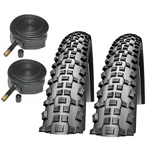 Schwalbe Rapid Rob 26' x 2.10 Mountain Bike Tyres with Schrader Inner Tubes (Pair)